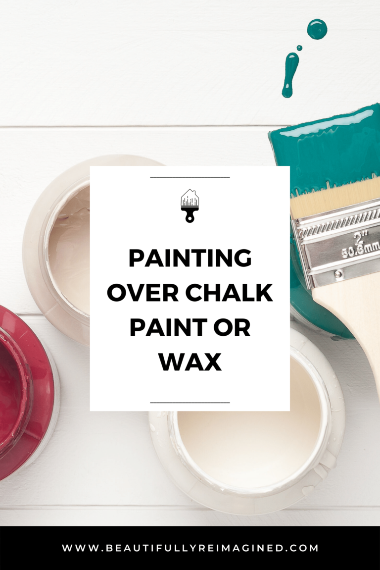 Painting over Chalk Paint or Wax