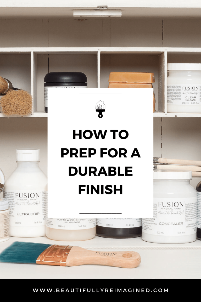 How to PREP for a durable finish